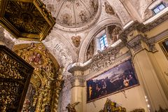 Hospital de la caridad church, Seville, spain. A view in SEVILLE, ANDALUSIA, SPAIN, MAY, 26, 2017 : interiors  of  hospital de la caridad church may 26, 2017 in Royalty Free Stock Photography