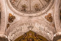 Hospital de la caridad church, Seville, spain. A view in SEVILLE, ANDALUSIA, SPAIN, MAY, 26, 2017 : interiors  of  hospital de la caridad church may 26, 2017 in Royalty Free Stock Photo