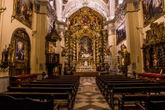 Hospital de la caridad church, Seville, spain. A view in SEVILLE, ANDALUSIA, SPAIN, MAY, 26, 2017 : interiors  of  hospital de la caridad church may 26, 2017 in Stock Images