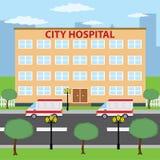 Hospital de la ciudad. Fotografía de archivo libre de regalías