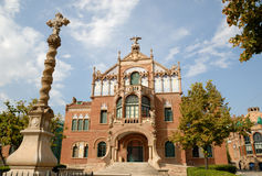 Hospital de la Santa Creu in Barcelona, Spain Stock Image