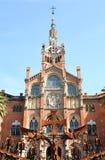 Hospital de la Santa Creu i de Sant Pau Photographie stock libre de droits