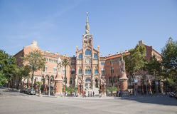 Hospital de la Santa Creu i Sant Pau in Barcelona Royalty Free Stock Image