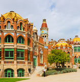 Hospital de la Santa Creu i Sant Pau in Barcelona Royalty Free Stock Image