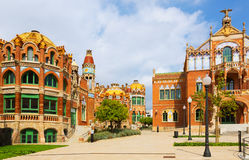 Hospital de la Santa Creu i Sant Pau in Barcelona Royalty Free Stock Photography