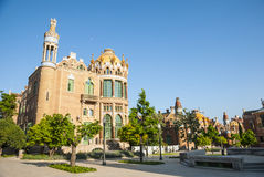 Hospital de la Santa Creu i Sant Pau, Barcelona. Old modernistic hospital de Sant Pau, Barcelona, Spain Royalty Free Stock Photo