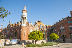 Hospital de la Santa Creu i Sant Pau, Barcelona. Old modernistic hospital de Sant Pau, Barcelona, Spain Stock Photos