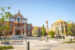 Hospital de la Santa Creu i Sant Pau, Barcelona. Old modernistic hospital de Sant Pau, Barcelona, Spain Stock Photography