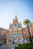 Hospital de la Santa Creu i Sant Pau, Barcelona. Old modernistic hospital de Sant Pau, Barcelona, Spain Royalty Free Stock Image