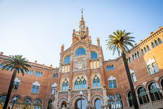 Hospital de la Santa Creu i Sant Pau, Barcelona. Old modernistic hospital de Sant Pau, Barcelona, Spain Royalty Free Stock Images
