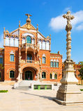Hospital de la Santa Creu i Sant Pau in Barcelona Royalty Free Stock Photo