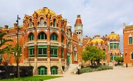 Hospital de la Santa Creu i Sant Pau in Barcelona Royalty Free Stock Photos