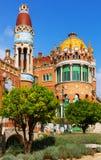 Hospital de la Santa Creu i Sant Pau in Barcelona Stock Photo