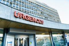 Hospital de la universidad de Ginebra Foto de archivo libre de regalías