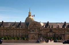 Hospital de Les Invalides en París Imagen de archivo libre de regalías