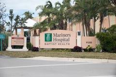Hospital de los marinos en Baptist Health South Florida Fotografía de archivo libre de regalías