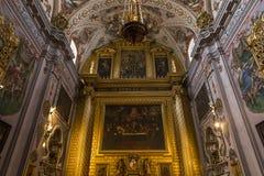 Hospital de los venerables church, Seville, Andalusia, spain. A view in SEVILLE, ANDALUSIA, SPAIN, MAY, 25, 2017 : interiors of  hospital de los venerables Royalty Free Stock Photos