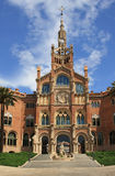 Hospital de Sant Pau in Barcelona. Facade of Hospital de Sant Pau in Barcelona Royalty Free Stock Images