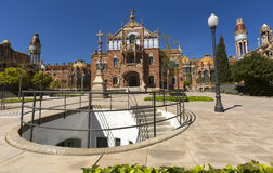 Hospital de Sant Pau in Barcelona, Spain - A UNESCO World Heritage Site. Hospital de Sant Pau in Barcelona, Spain - A UNESCO World Heritage Site Royalty Free Stock Photo