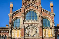 Hospital de Sant Pau in Barcelona, Spain. A UNESCO World Heritage Site designed by the Catalan modernism architect Lluís Domènech i Montaner Royalty Free Stock Photos