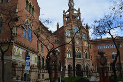 Hospital de Sant Pau, Barselona, Spain. One of the most beautifull place in Barselona Royalty Free Stock Image