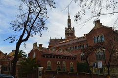 Hospital de Sant Pau, Barselona, Spain. One of the most beautifull place in Barselona Stock Images