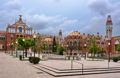 Barcelona Spain. View Hospital de Sant Pau in Barcelona, Spain royalty free stock photo