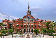 Barcelona Spain. View Hospital de Sant Pau in Barcelona, Spain royalty free stock image