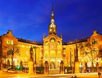 Hospital de Sant Pau in night Stock Photos