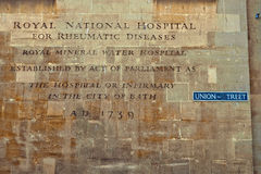 Hospital del agua mineral, baño, Somerset, Inglaterra Foto de archivo