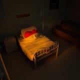 hospital del corazón 3d Imagen de archivo libre de regalías