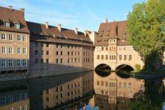 Hospital del espíritu santo - Nurnburg Alemania Foto de archivo libre de regalías