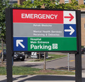 Hospital direction sign Royalty Free Stock Images