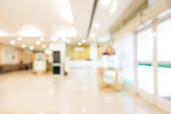 Hospital do borrão e interior abstratos da clínica Imagem de Stock