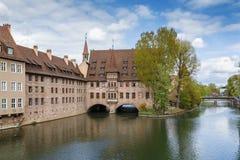 Hospital do Espírito Santo, Nuremberg, Alemanha Imagens de Stock
