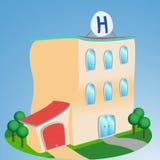 Hospital do estilo dos desenhos animados Fotos de Stock