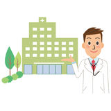 Hospital and doctor Stock Image