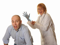 Hospital Doctor with glove Stock Image