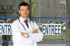 Hospital doctor man Stock Photo