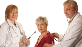 Hospital Doctors with patient Royalty Free Stock Images
