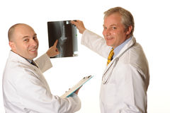 Hospital Doctors with xray Stock Photos