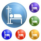 Hospital dropper icons set vector stock illustration