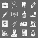 Hospital e iconos médicos Imagenes de archivo