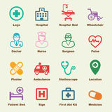 Hospital elements. Vector infographic icons Stock Photos