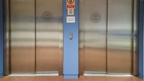 Hospital elevator closed stock photography