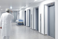Hospital elevator hallway Royalty Free Stock Image