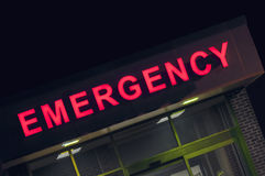 Hospital emergency room entrance Stock Photo