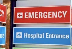 Emergency 911. The hospital emergency room entrance for true medical emergencies Royalty Free Stock Photos