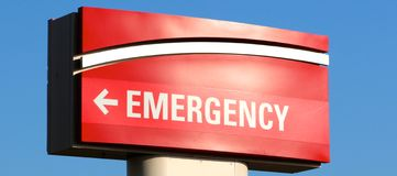 Hospital Emergency Room Sign royalty free stock photo