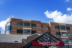Hospital emergency services Stock Images